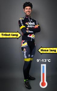 Fahrradbekleidung 9 bis 13 Grad