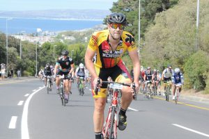 Der Lucky Biker bei der Cape Town Cycle Tour