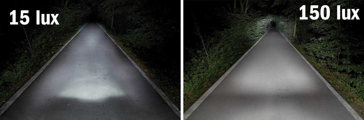Beleuchtung am Fahrrad - 15 Lux versus 150 Lux