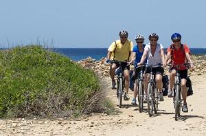 Radfahrer/Radgruppe auf Mallorca