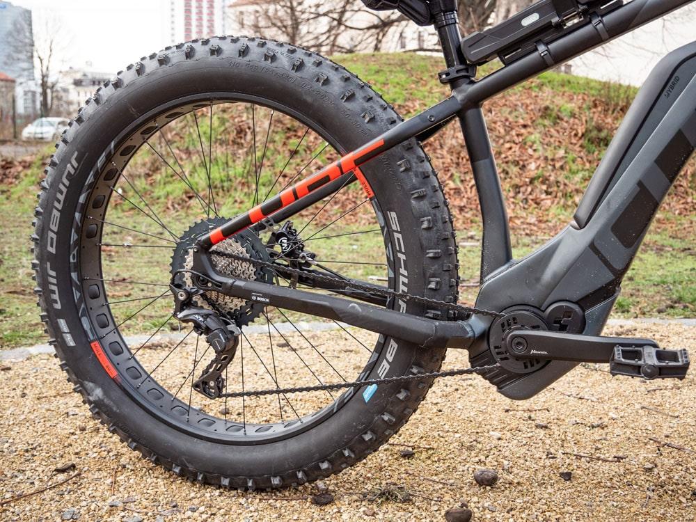 Cube Nutrail Hybrid 500 2019 - Testbericht - Lucky Bike Test Schwalbe Jumbo Jim Bereifung Fatbike