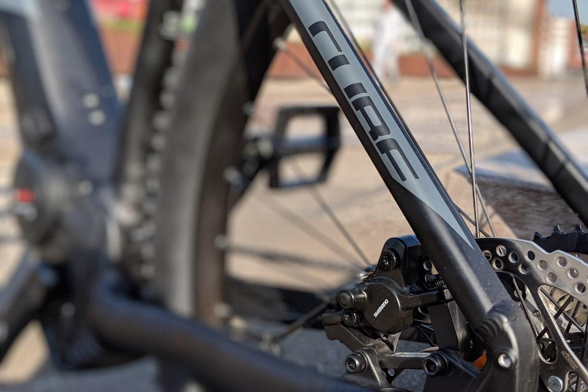 Cube Reaction Hybrid EXC 500 2019 - Rahmen hinten links Bremse - Lucky Bike Test