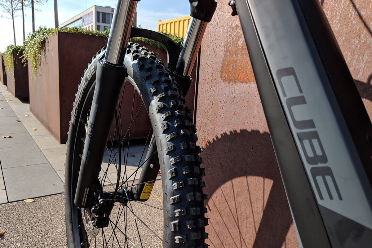 Cube Reaction Hybrid EXC 500 2019 - Schwalbe tires - Lucky Bike Test
