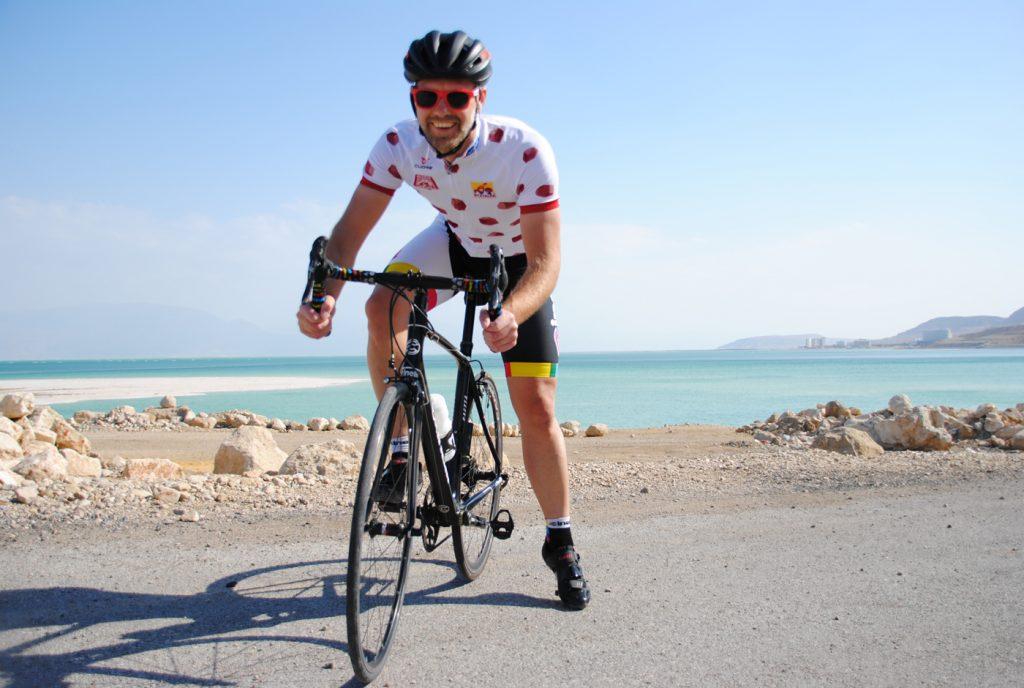 Der Lucky Biker beim Fahrradfahren