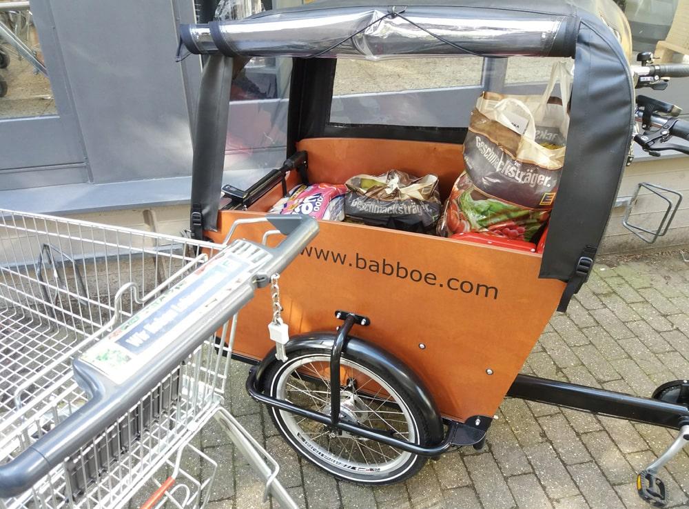 E-Lastenrad - Erfahrungsbericht einer jungen Mutter - Babboe Big E fuer den Alltag - Lastenfahrrad Elektro zum Einkaufen