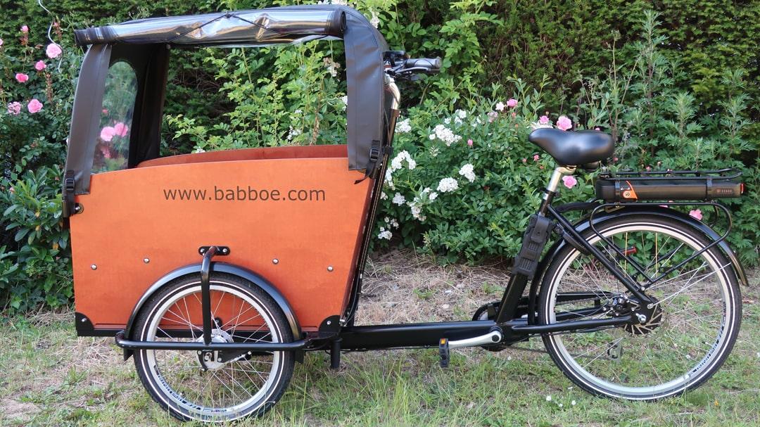 Elektro-Lastenrad - Babboe Big-E Qwic - Testbericht Babyschritte Lucky Bike Radlbauer