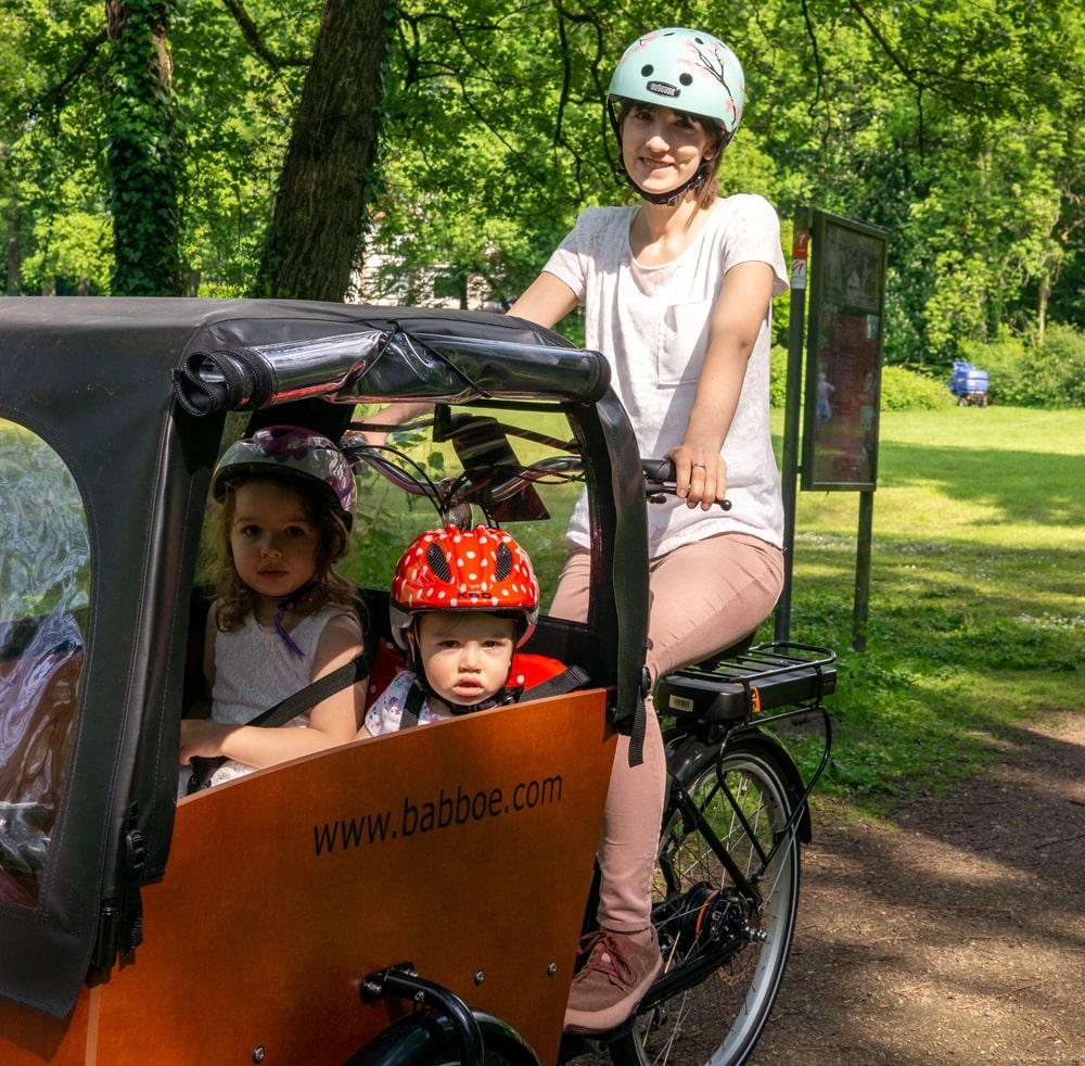 Elektro-Lastenrad - Babboe Big-E Qwic - Testbericht Lucky Bike Radlbauer