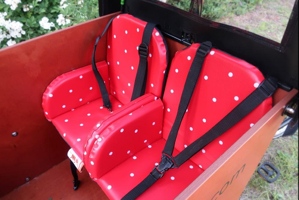 Elektro-Lastenrad Kindersitze - Babboe Big-E Qwic - Testbericht Lucky Bike Radlbauer