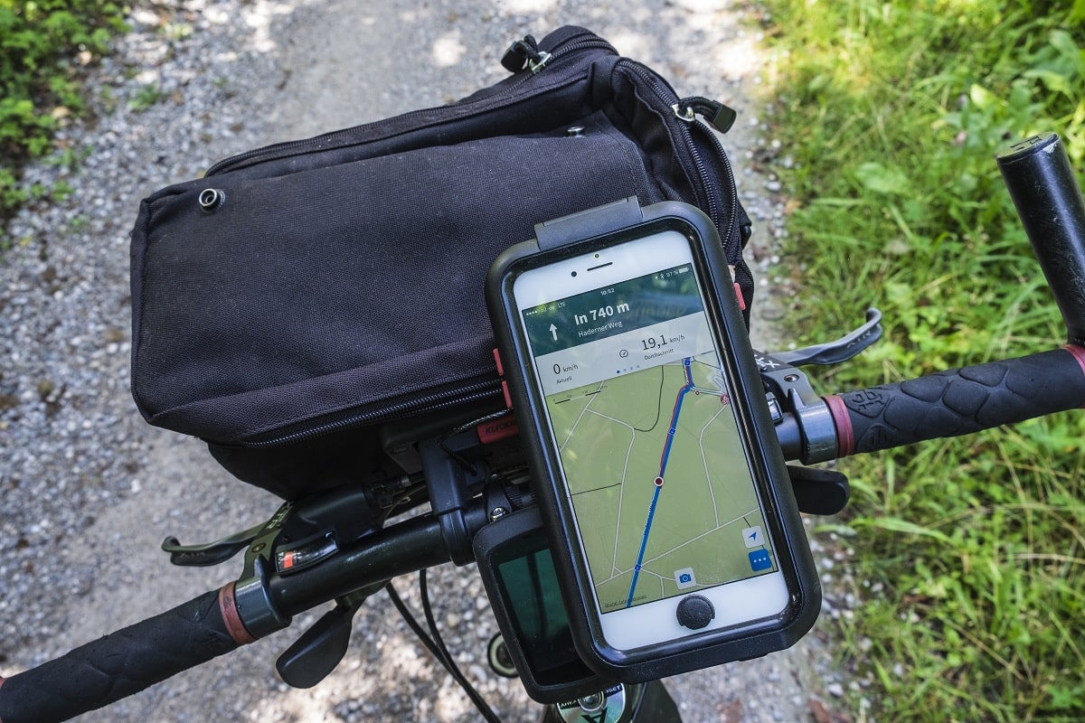 Fahrradnavigation mit Smartphone GPS