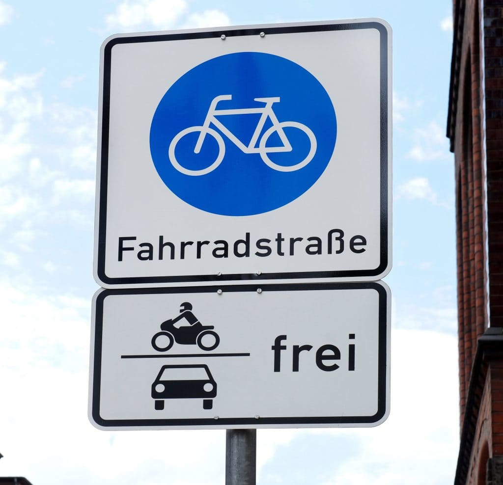 Fahrradstraße - Kennzeichnung