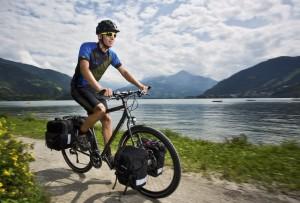 Gepäck am Fahrrad