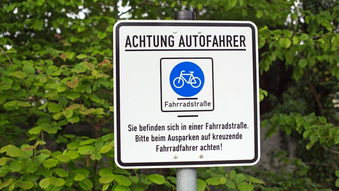 Hinweisschild Fahrradstrasse