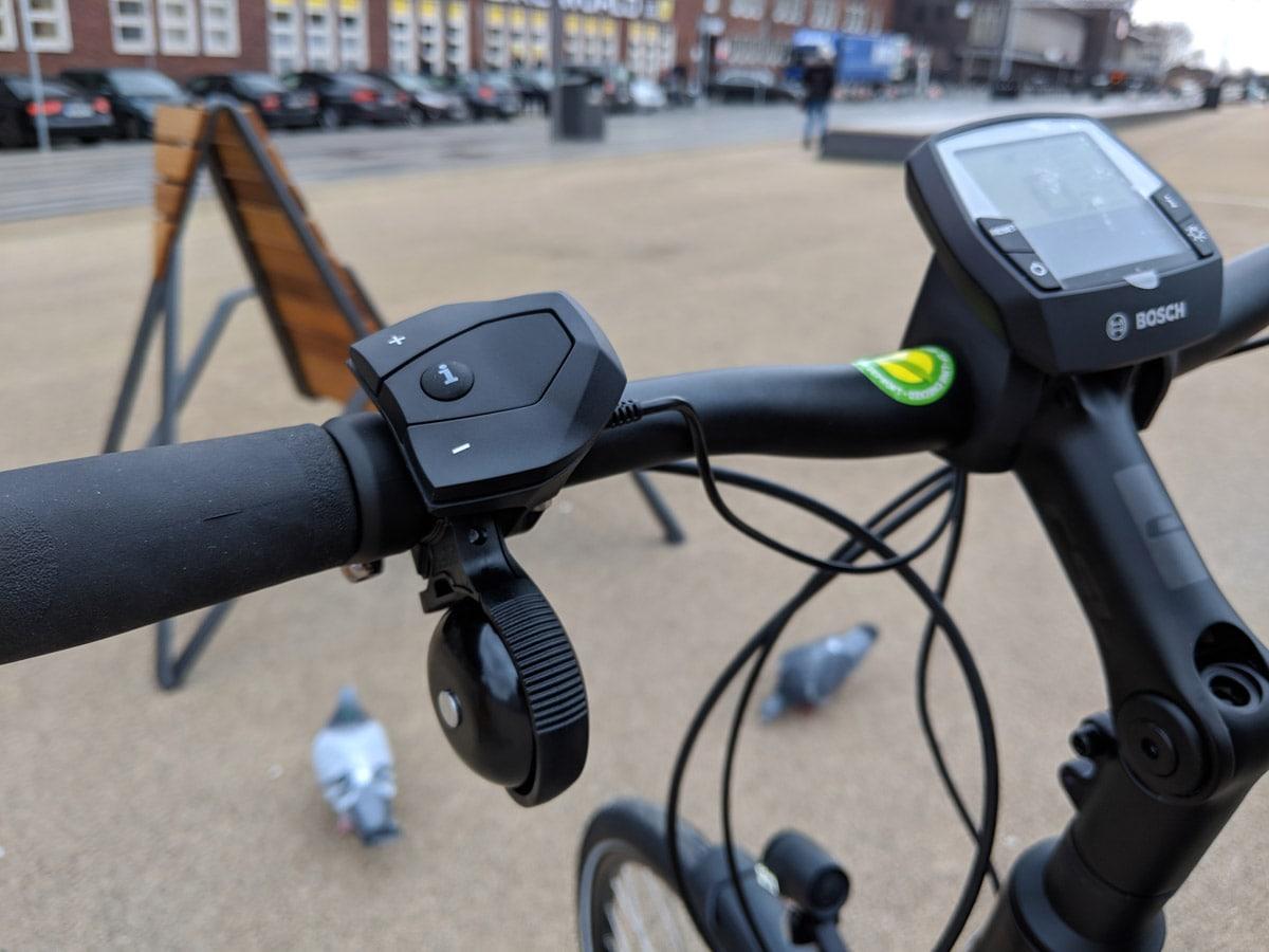 Kalkhoff Voyager E-Pro 500 2019 - Bosch Intuvia Display mit Fernsteuerung Lucky Bike Blog Testbericht