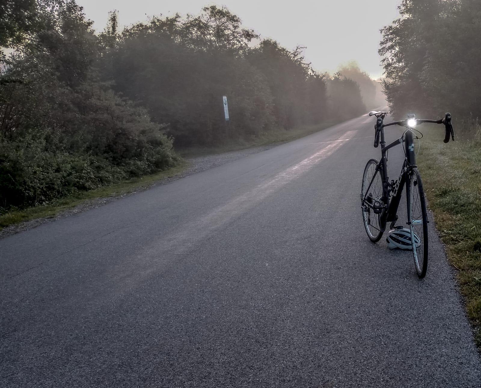 Licht am Rad Rennrad