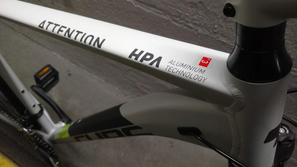 Test Cube Attention 2019 - Lucky Bike Blog Testbericht - Aluminium Rahmen