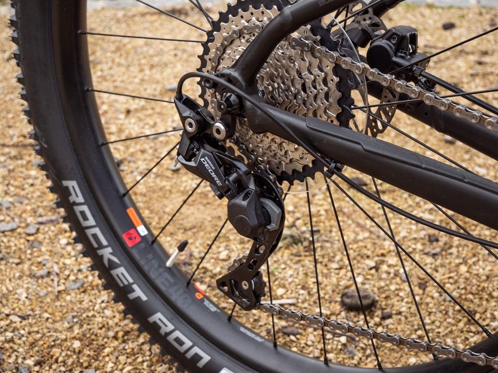 Trek Roscoe 7 2019 - Testbericht Lucky Bike - Shimano Deore Schaltwerk