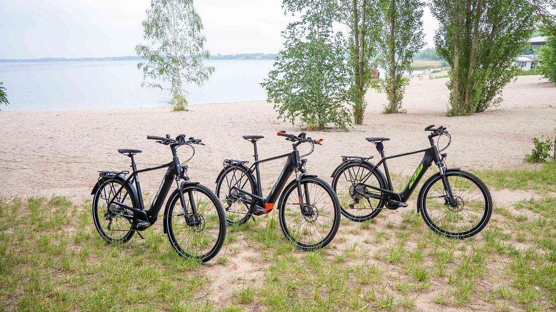 Vergleich Testsieger KTM E-Bikes - KTM Macina Tour 510 - KTM Macina Sport Pro - KTM Macina Style Pro - Titelbild