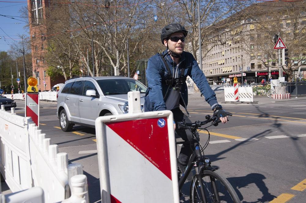 Vorbei am Stau - Mit dem Fahrradt in Muenchen - Erfahrungsbericht
