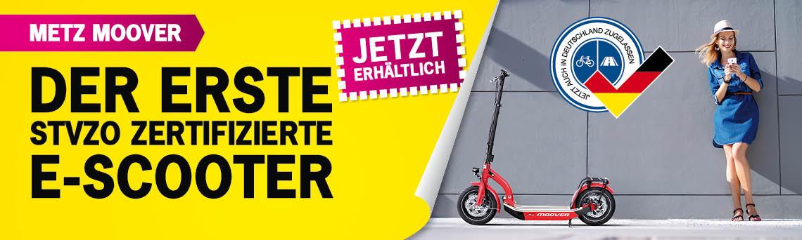 Der erste STVZO zertifizierte E- Scooter