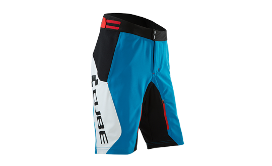 Cube Teamline Shorts XL | white´n´blue´n´red