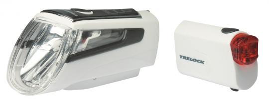 Trelock LS 560 I-Go Control + LS 720 Reego Set 50 Lux weiß