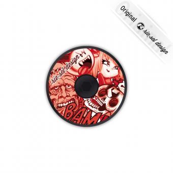 Rie:sel Design dec:kel Headset Cap 1 1/8 Zoll | red