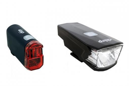 Chirp York/Star Akku/Batterie-Leuchten-Set schwarz