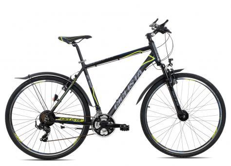 Ciclista All Road Herren 50 cm | black blue lime