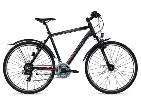 Ciclista Sportivo Cross Street Herren 2017 55 cm | schwarz rot