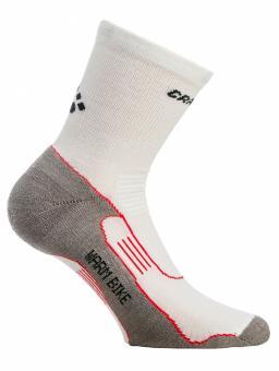 Craft Warm Bike Mid Sock 40-42   weiß