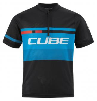 Cube Junior Action Teamline Trikot kurz 110/116 | black blue