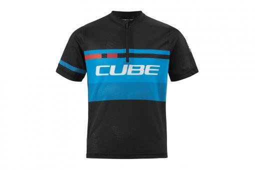 Cube Junior Action Teamline Trikot kurz 110/116 | black blue
