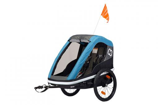 Hamax Avenida Two Kinderanhänger 2 Kinder | petrol blue