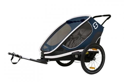 Hamax Outback Two Kinderanhänger 2 Kinder | navy