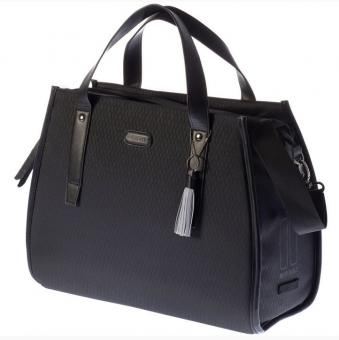 Basil Noir Business Schultertasche 17 Liter | midnight black