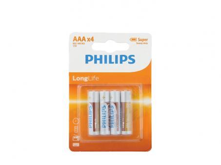 PHILIPS Longlife Micro AAA Batterien