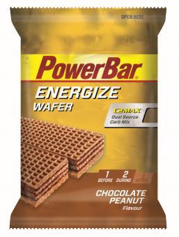 PowerBar Energize Wafer Waffel Chocolate Peanut