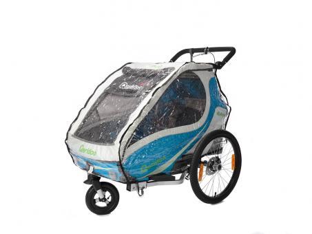 Qeridoo Regenverdeck für Fahrradanhänger