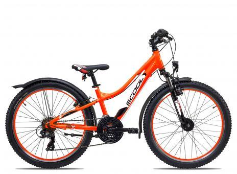SCOOL troX urban 24 21-S 32 cm | neon orange