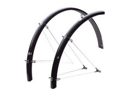 SKS Bluemels Radschützer Set 28 Zoll | 65 mm | schwarz