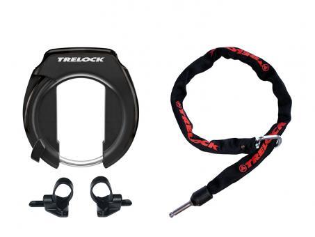 Trelock RS 351 + ZR 355 Rahmenschloss-Set schwarz
