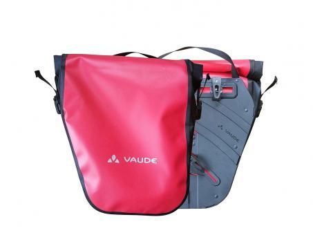 Vaude World Cycle II Hecktaschen 48 Liter   rot schwarz