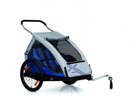 XLC Duo2 Fahrrad-Kinder-Anhänger blau
