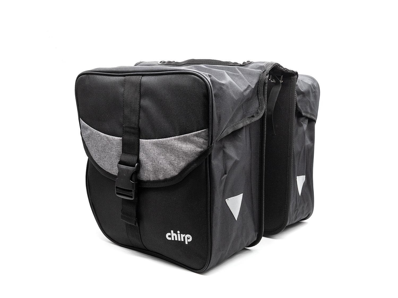Chirp Travel Set Gepäckträgertaschen | 25 Liter | schwarz