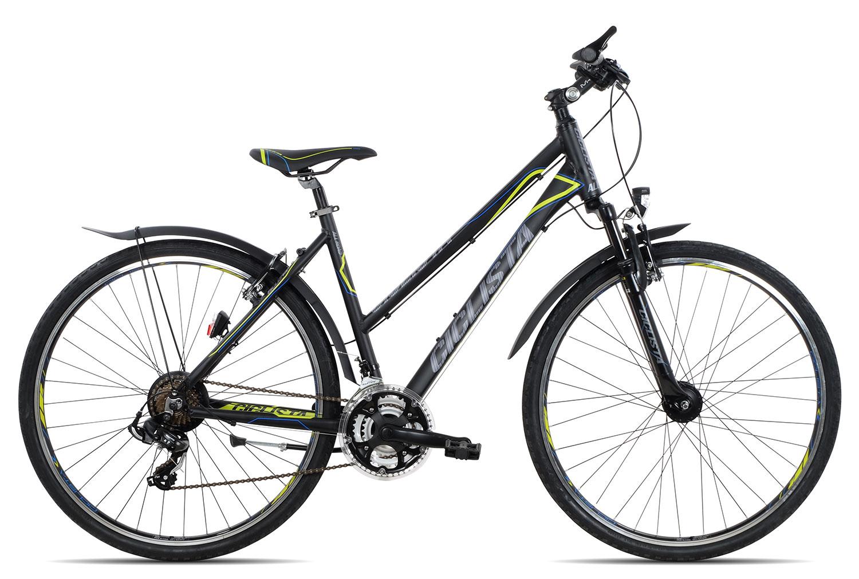 Ciclista All Road Trapez 2019 | 45 cm | black blue lime