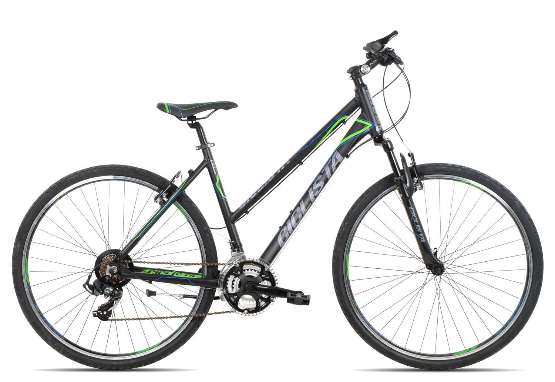 Ciclista Cross Trapez 2019 | 50 cm | black blue green auf Rechnung bestellen