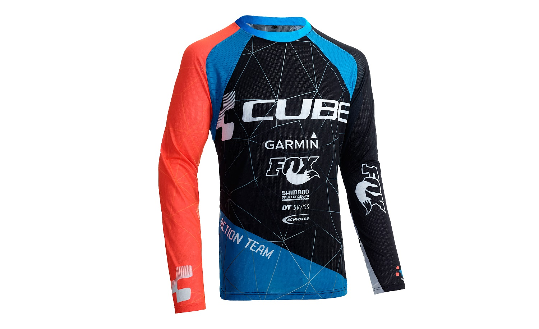 Cube CUBE ACTION Rundhalstrikot Team langarm