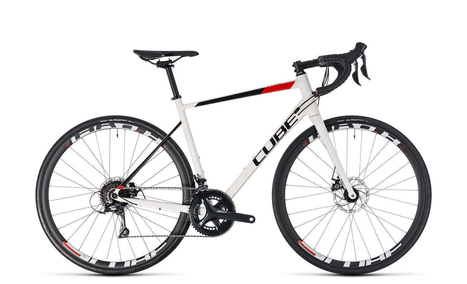 Cube Attain Pro Disc 2018 | 62 cm | white'n'red