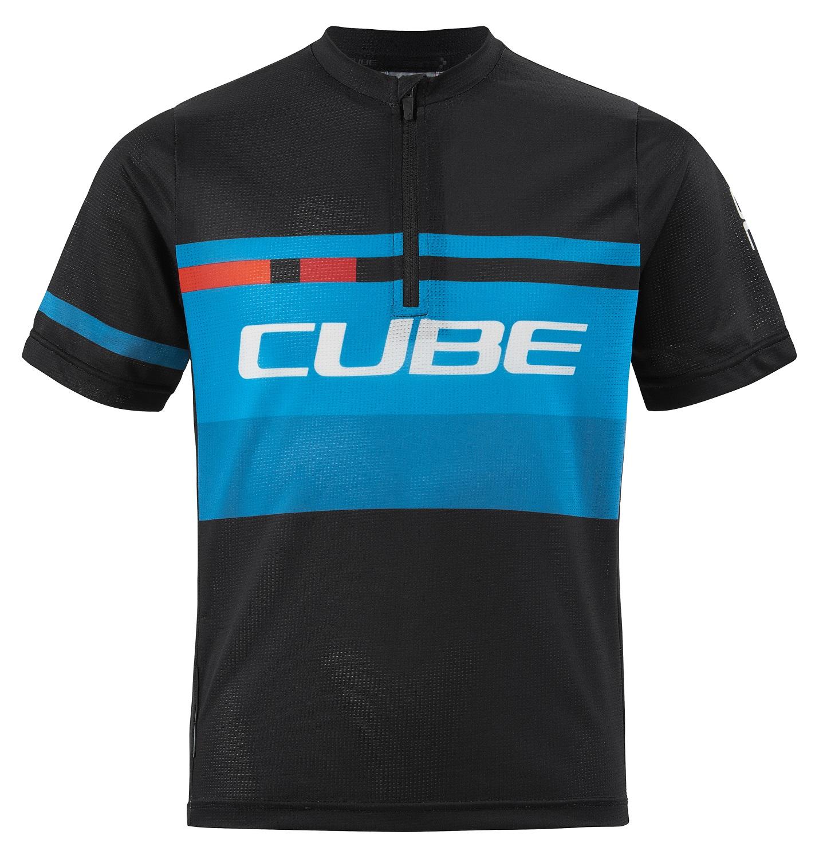 Cube Junior Action Teamline Trikot kurz | 134 140 | black blue
