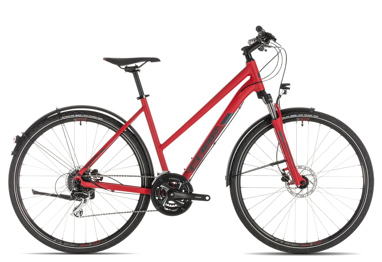 Cube Nature Allroad Trapez 2019 | 50 cm | red'n'grey